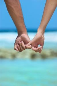 hands on beach